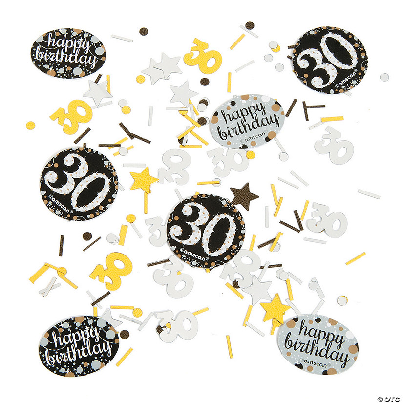 30th Birthday Sparkling Celebration Confetti