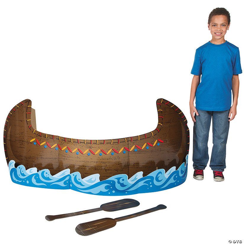 3D Canoe Cardboard Stand-Up