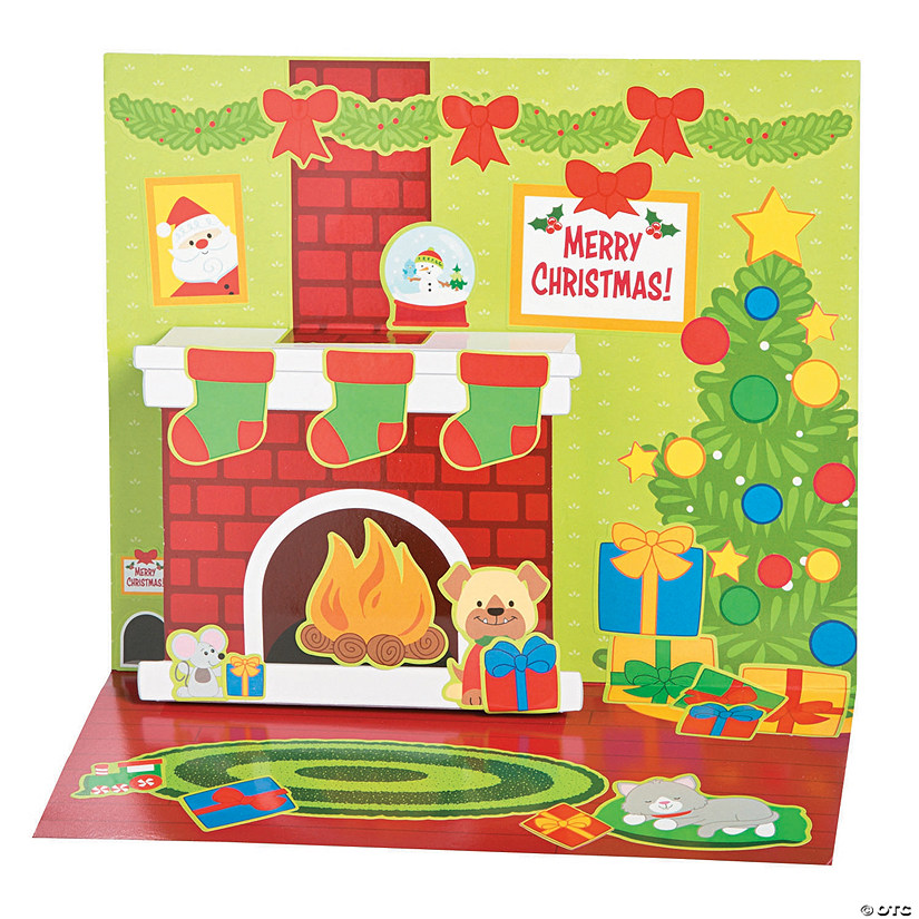 3D Christmas Stand-Up Sticker Scenes