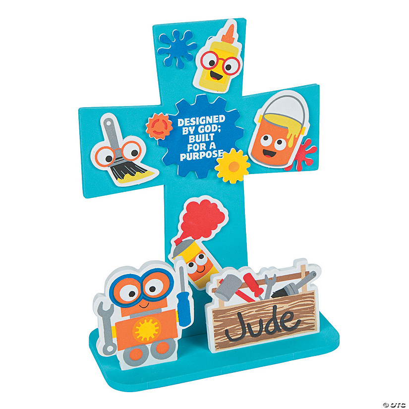 3D Geared Up for God VBS Stand-Up Craft Kit