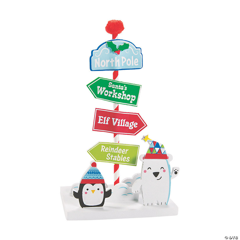 3D North Pole Sign Scene Craft Kit