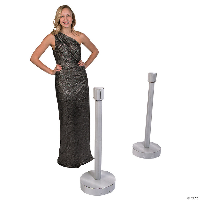 3D Stanchions Cardboard Stand-Up