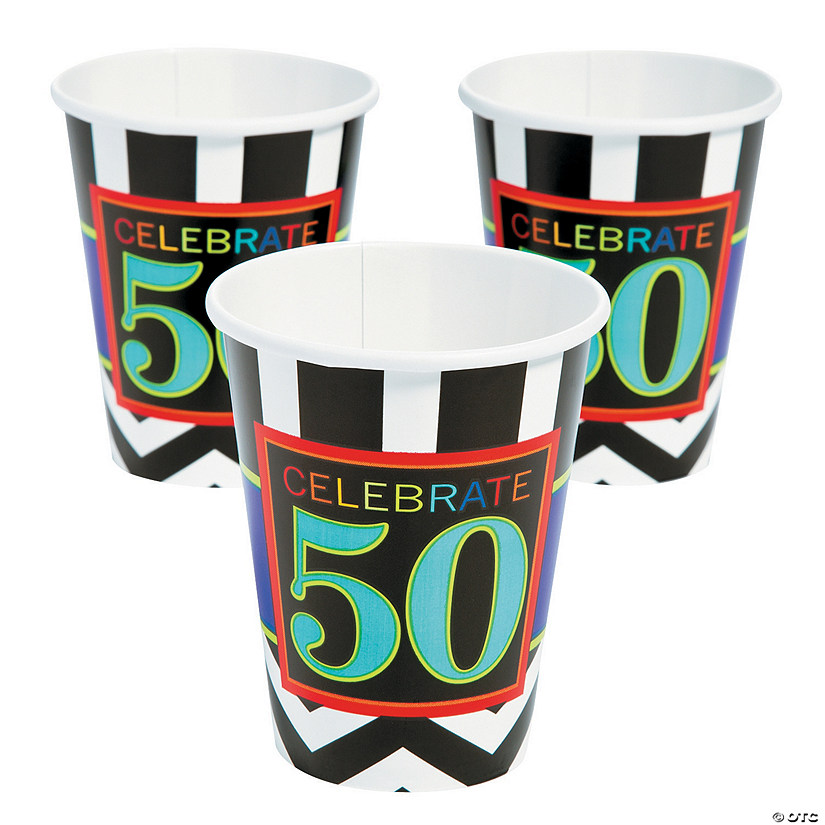 50th Birthday Celebration Cups