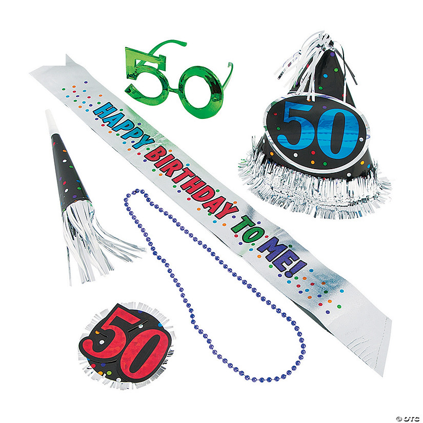 50th Birthday Celebration Party Kit