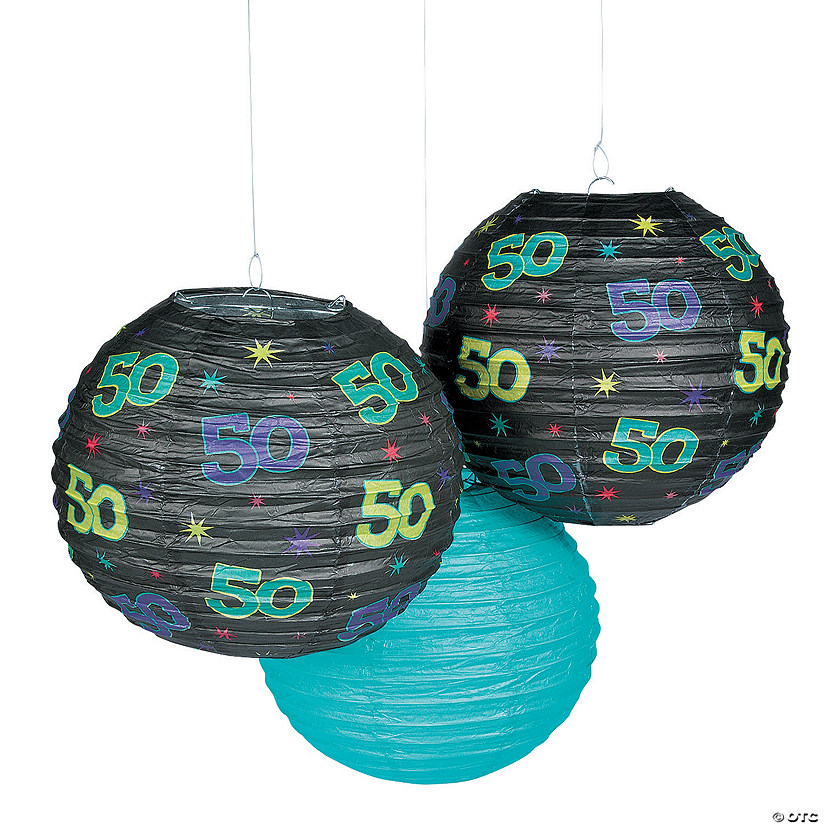 50th Birthday Party Hanging Paper Lanterns