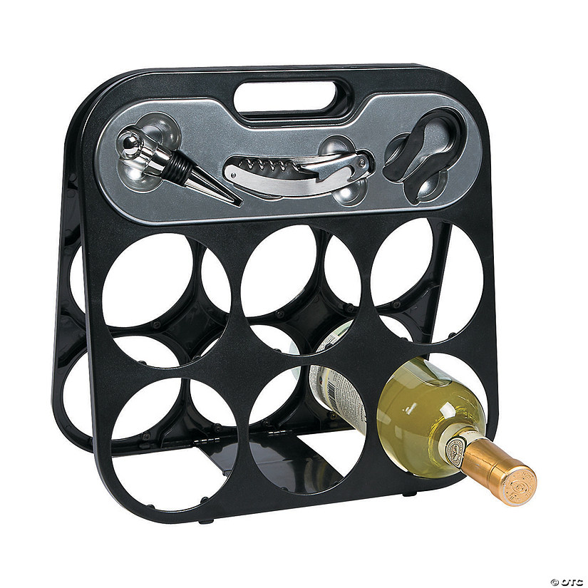 6-Bottle Wine Rack Gift Set