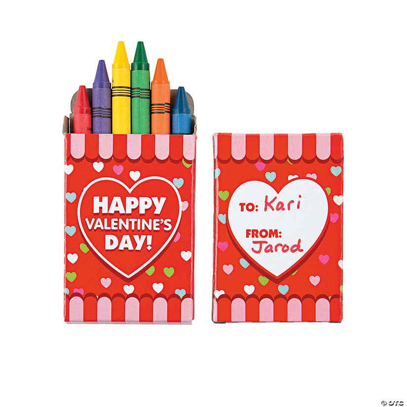 6-Color Valentine Crayons