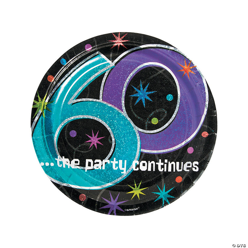 60th Birthday Party Continues Paper Dinner Plates