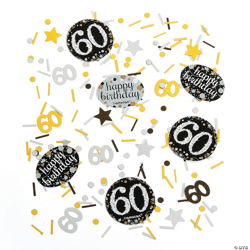60th Birthday Sparkling Celebration Confetti