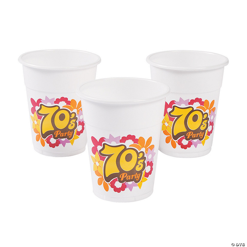 70s Party Disposable Cups
