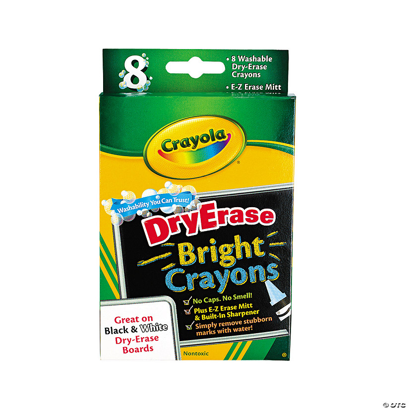 8-Color Crayola® Bright Dry Erase Crayons - 8 Piece