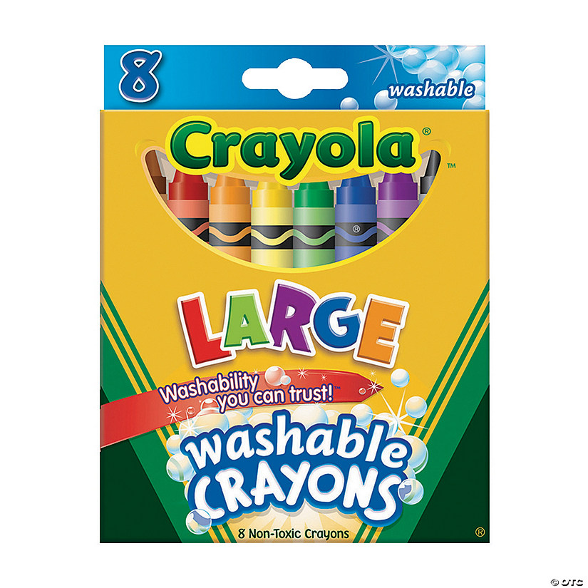 8-Color Crayola® Large Washable Crayons - 8 Pcs.