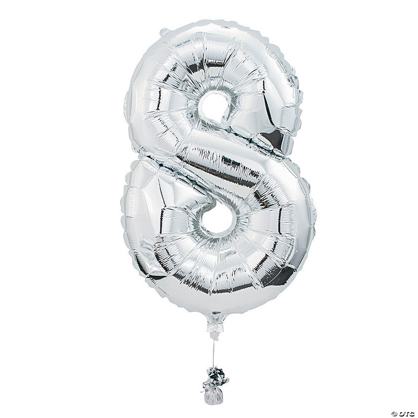 8 Shaped Number Mylar Balloon