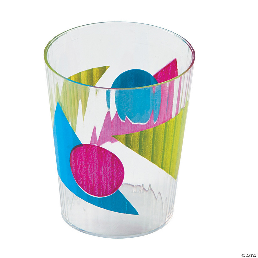 80s Party Plastic Shot Glasses