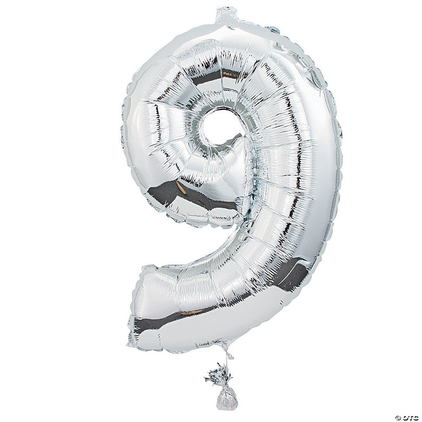 9 Shaped Number Mylar Balloon