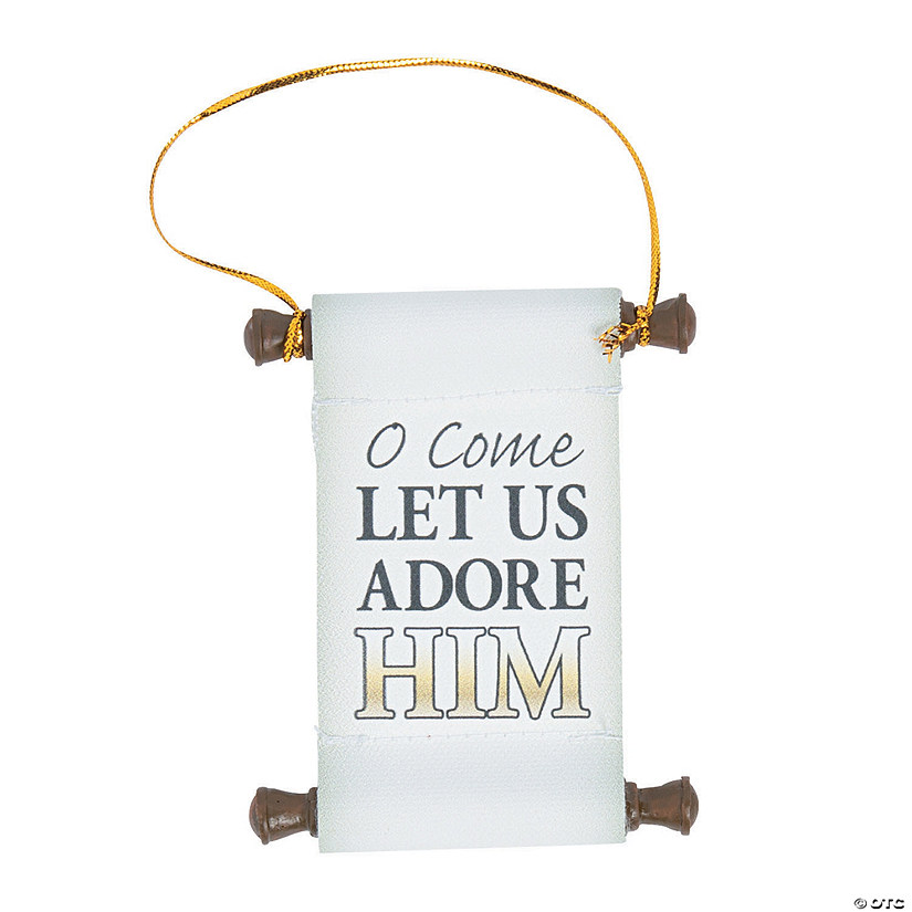 Adore Him Scroll Ornaments