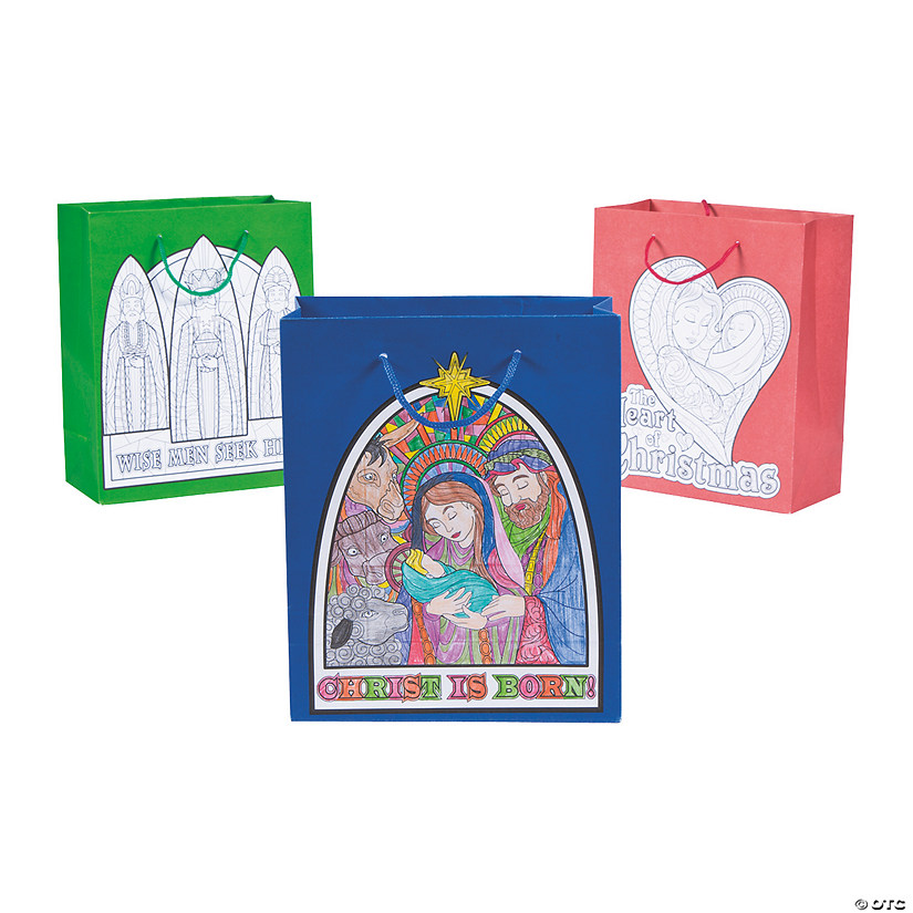 Adult Coloring Nativity Gift Bags