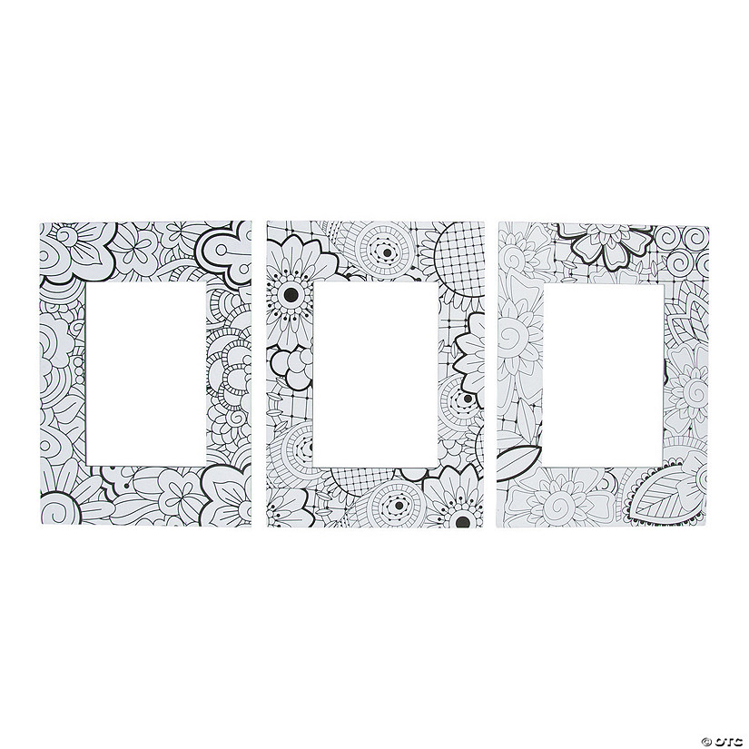Adult Coloring Picture Frame Magnets