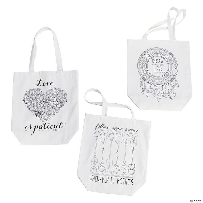 Adult Coloring Tote Bags