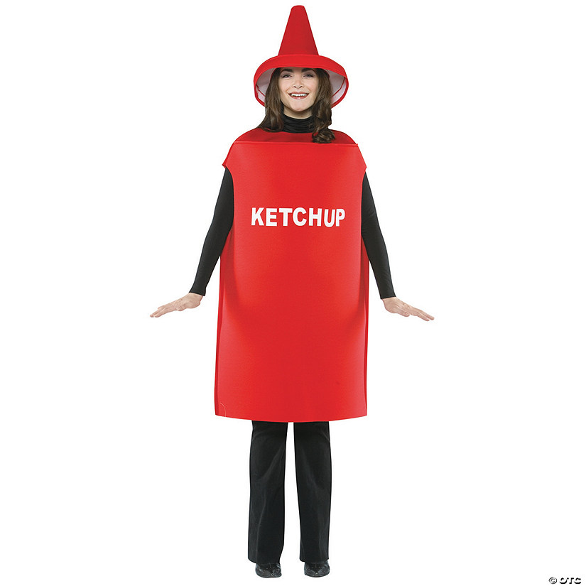 Adult Ketchup Costume - Standard