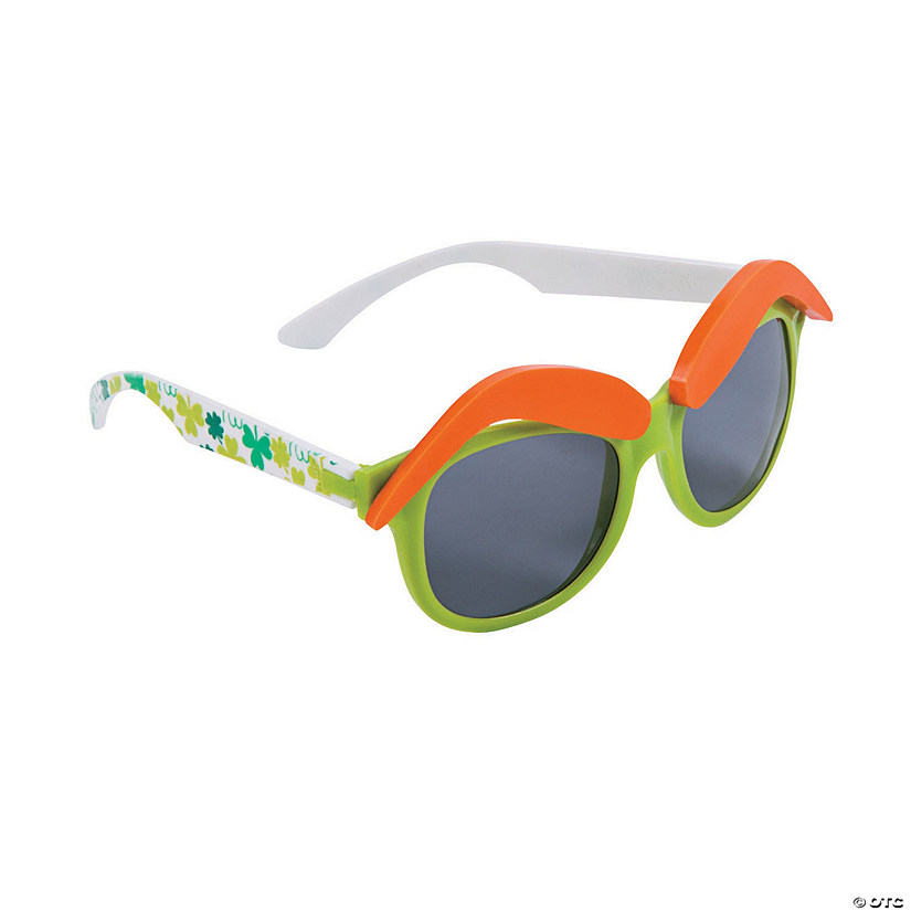 Adult's St. Patrick's Day Eyebrow Sunglasses