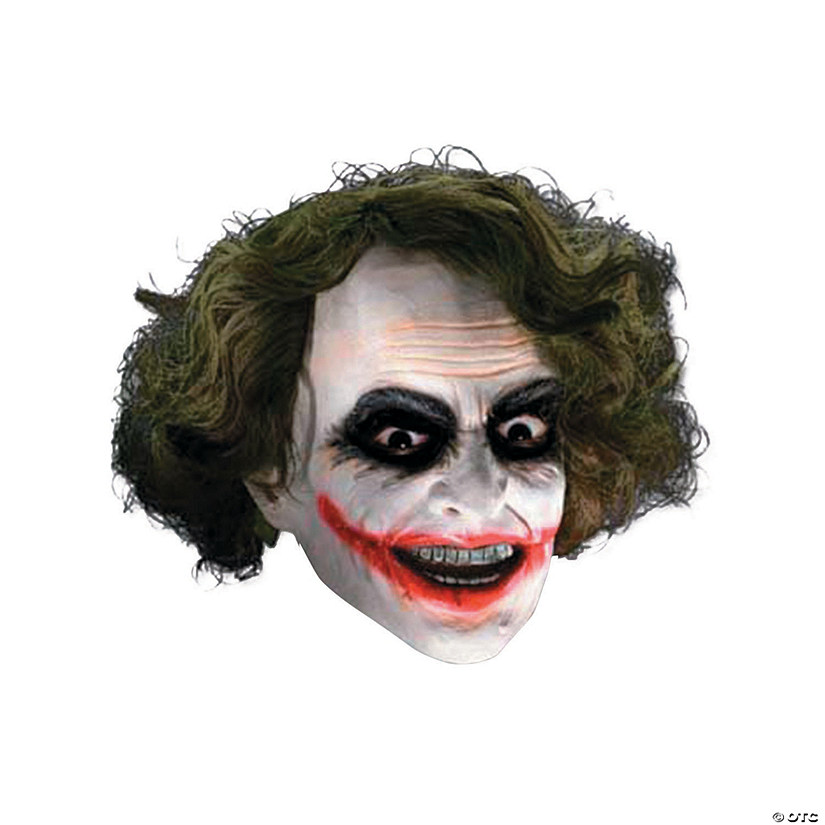Adult's 3/4 Joker Mask with Hair