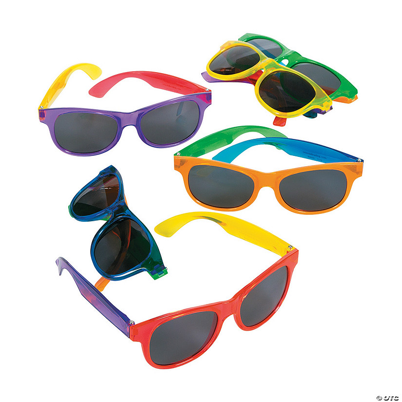 Adult's Bright Transparent Sunglasses