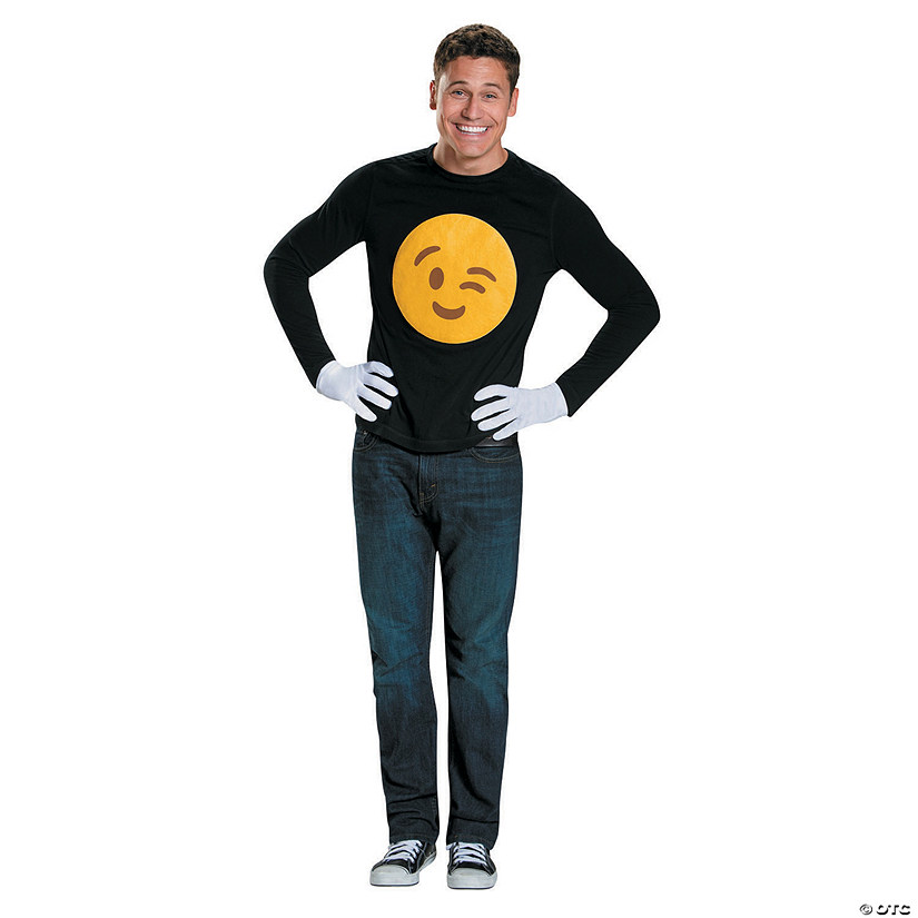 Adult's Emoji Wink Costume Kit