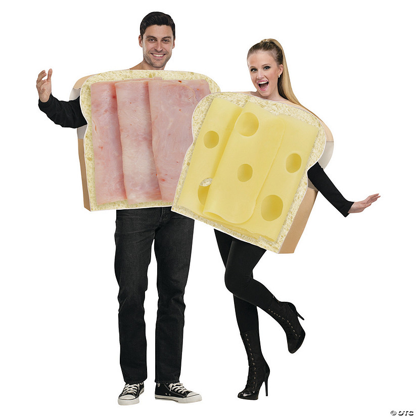Adult's Ham and Swiss Couples Costumes