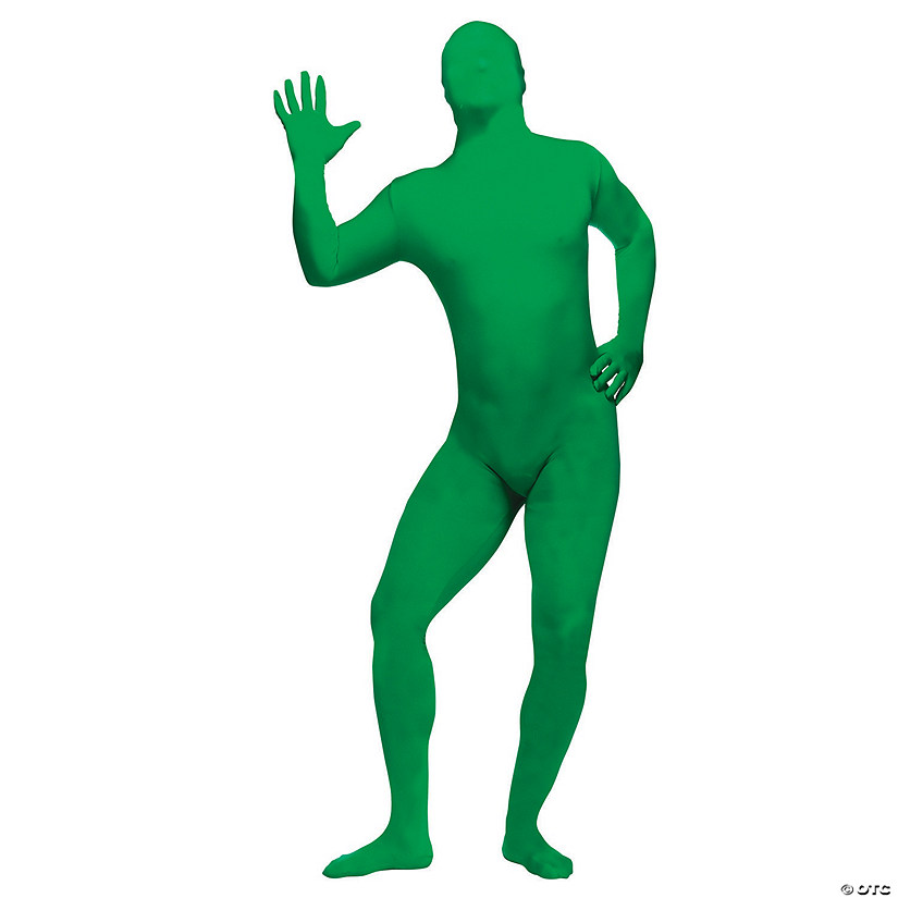 Adult's Plus Size Green Skin Suit Costume