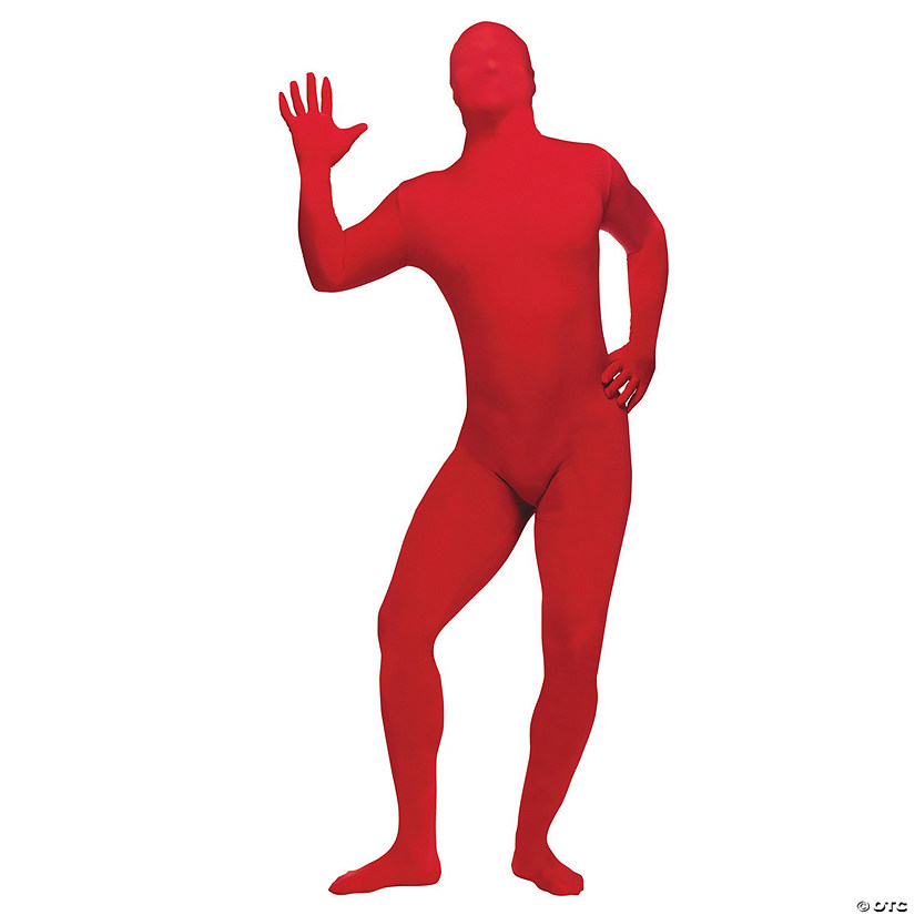 Adult's Plus Size Red Skin Suit Costume