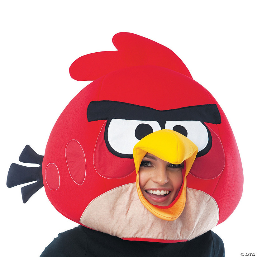 Adult's Red Angry Birds Mask