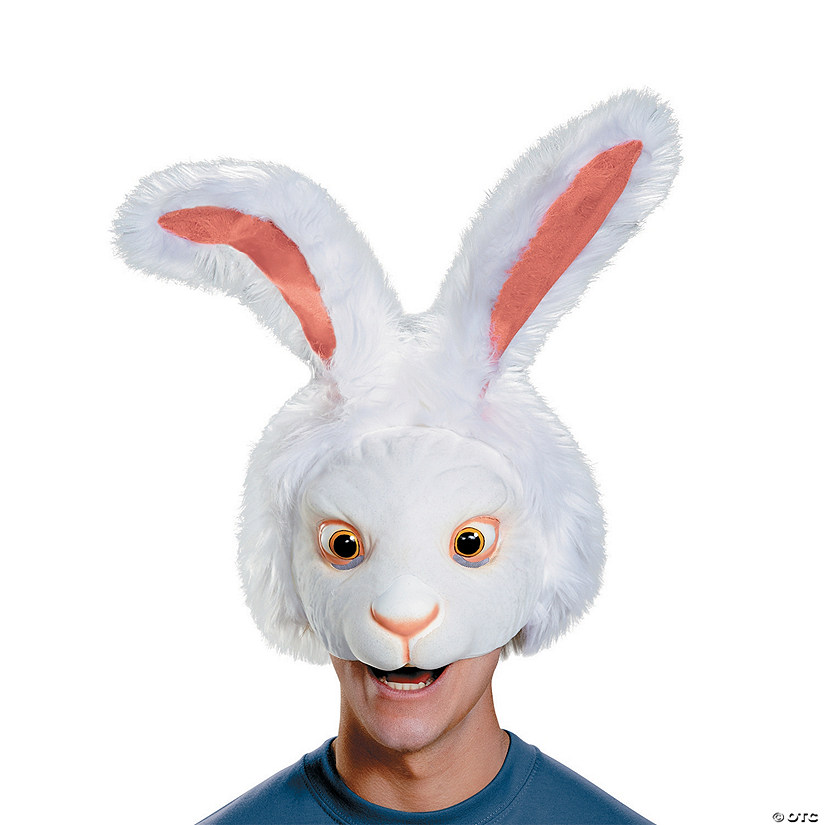 Adults' White Rabbit Mask