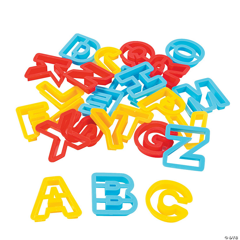 Alphabet Clay/Dough Cutters