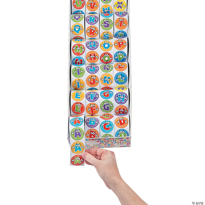 Alphabet Rolls of Stickers Mega Assortment