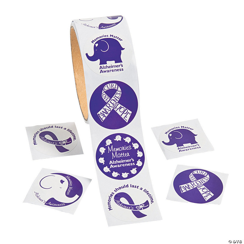 Alzheimer's Awareness Stickers