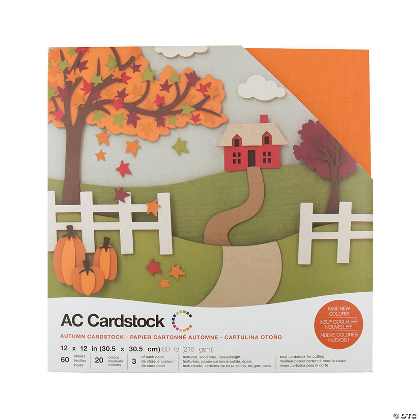 American Crafts Autumn Cardstock Variety Pack