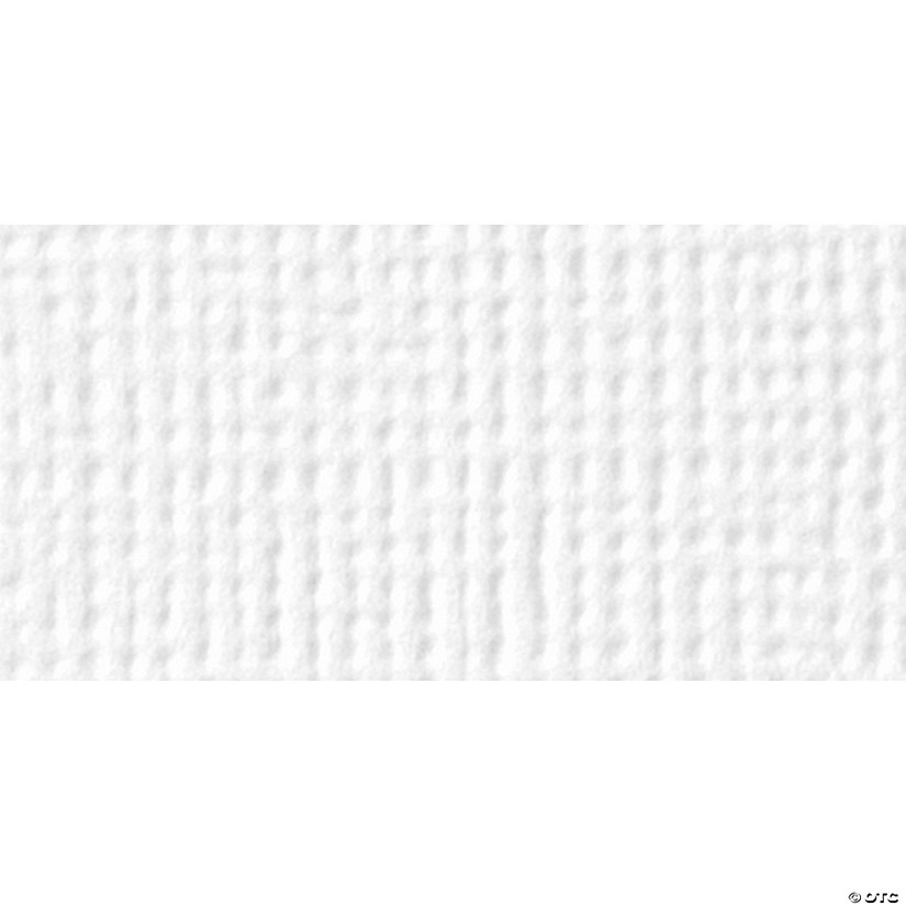"American Crafts Textured Cardstock Pack 12""X12"" 60/Pkg, Solid White"
