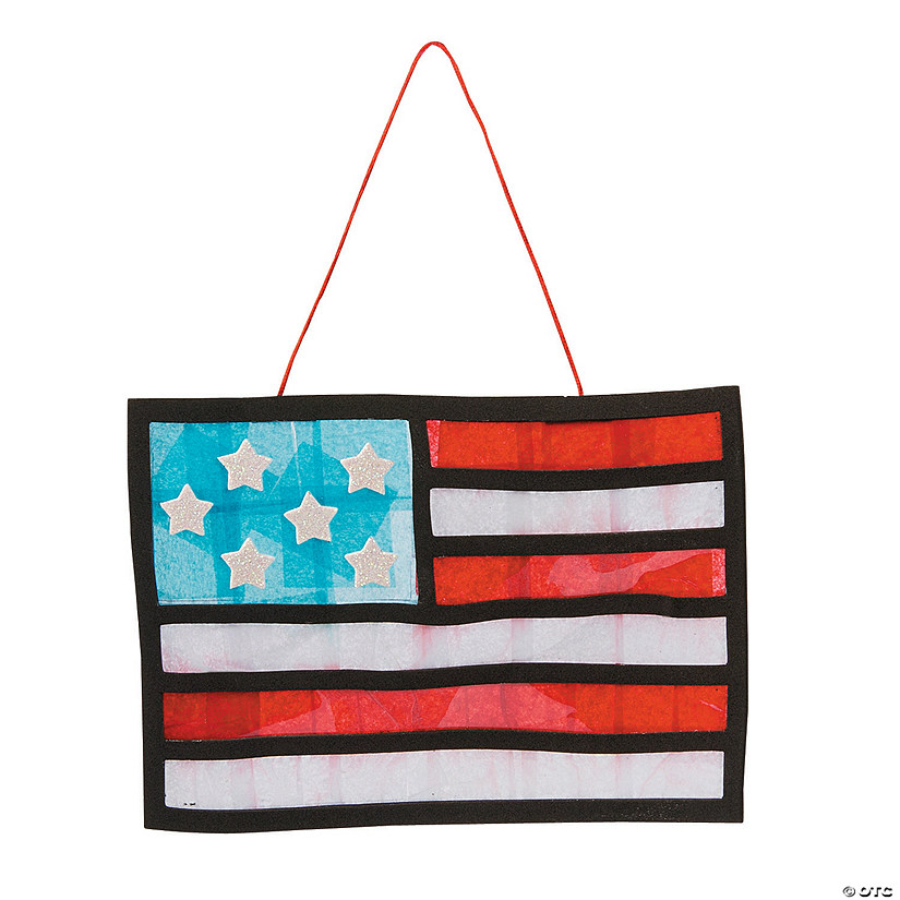 American Flag Tissue Paper Craft Kit