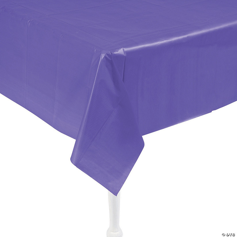 Amethyst Plastic Tablecloth