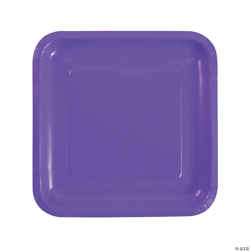 Amethyst Square Dinner Paper Plates