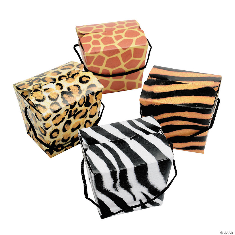 Animal Print Favor Boxes with Rope Handles