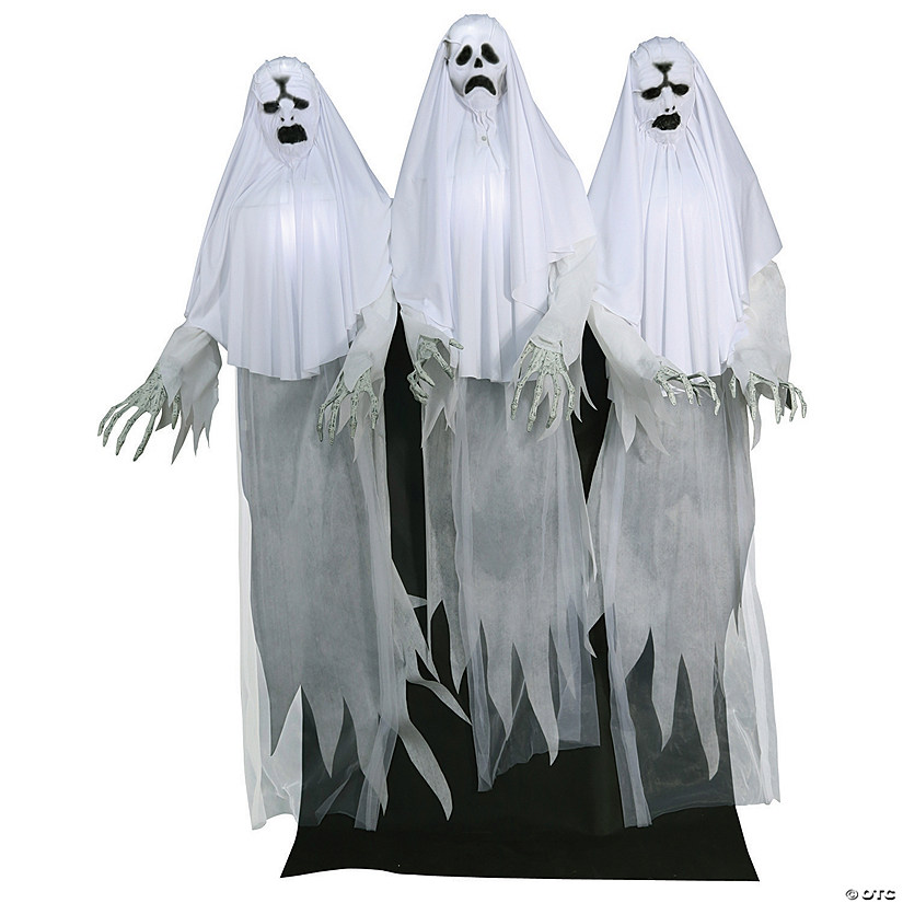 Animated Haunting Ghost Trio Halloween Décor
