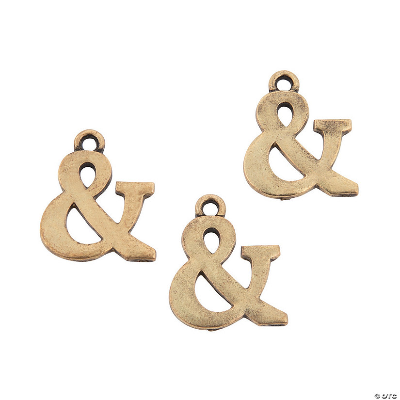 Antique Goldtone Ampersand Charms