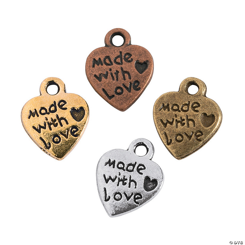 Antique Vintage Heart Charms