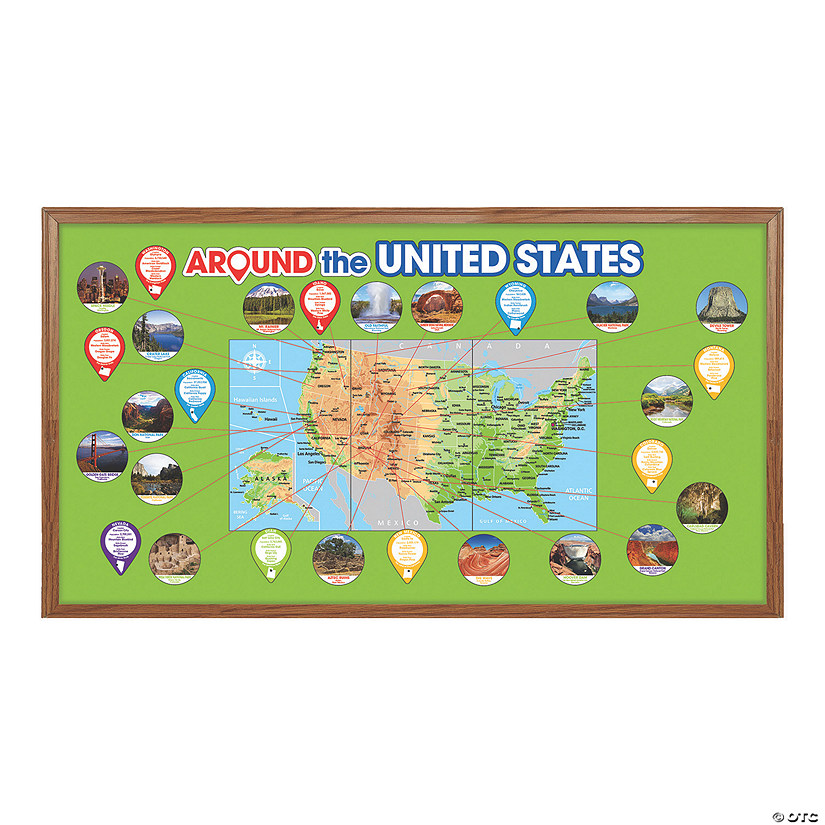 Around the US Bulletin Board Set