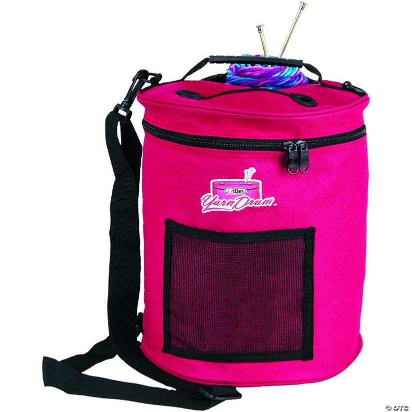 "Artbin Yarn Drum 12""X12.75""-Raspberry"