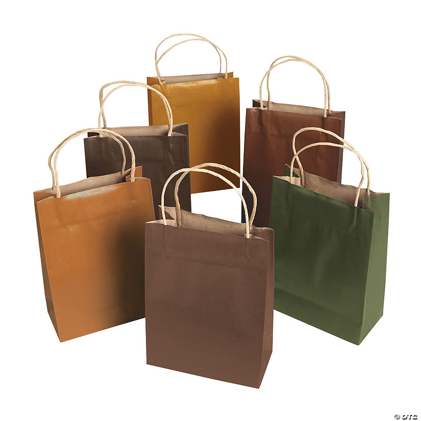 Assorted Colors Kraft Paper Gift Bags