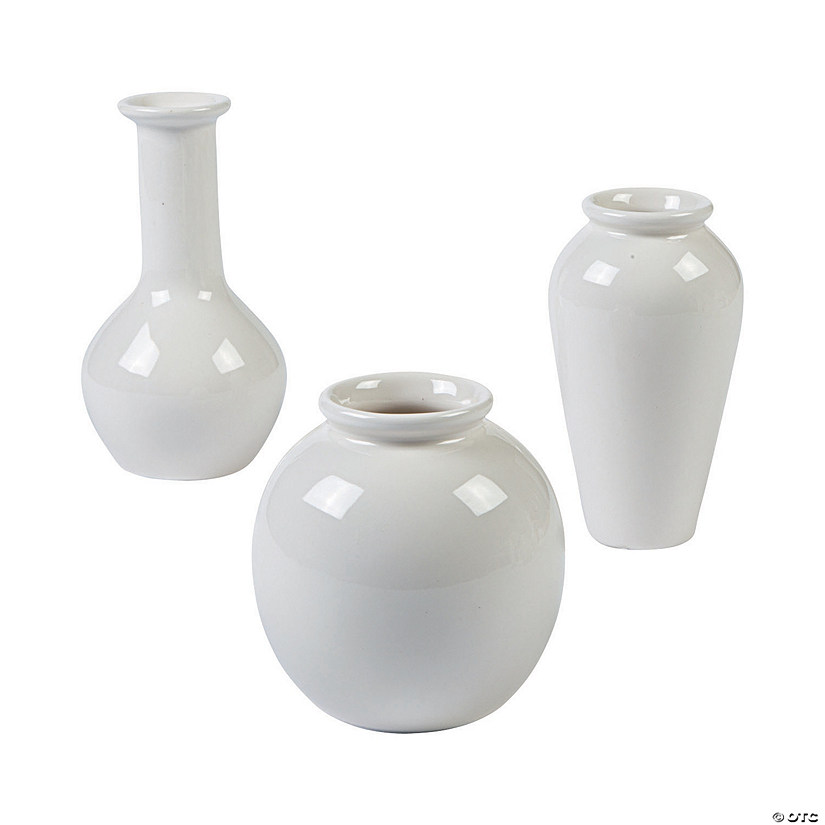Assorted Ivory Vase Set