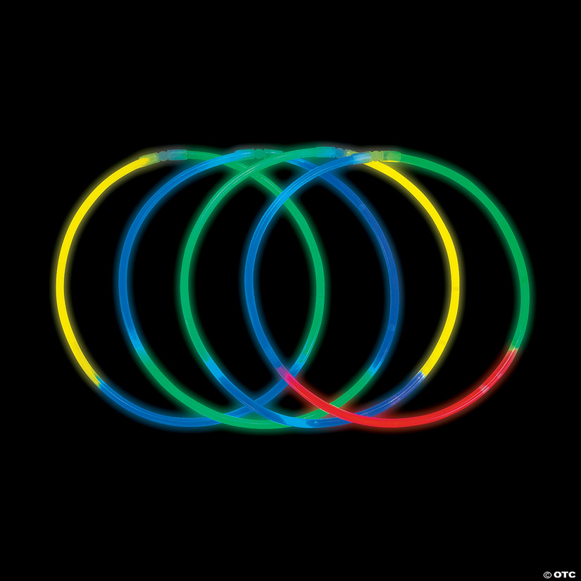 Assorted Tri-Color Glow Necklaces